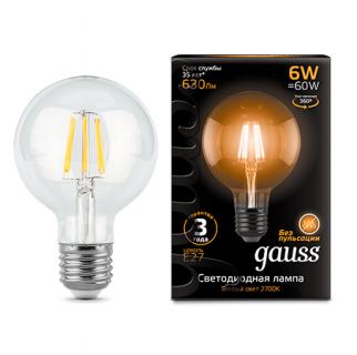 Лампа Gauss LED  Filament G95